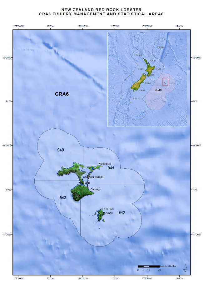 CRA6 Fishery management and statistical areas